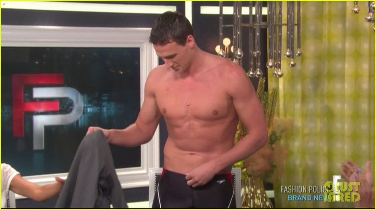 ryan lochte goes shirtless on fashion police 102709206