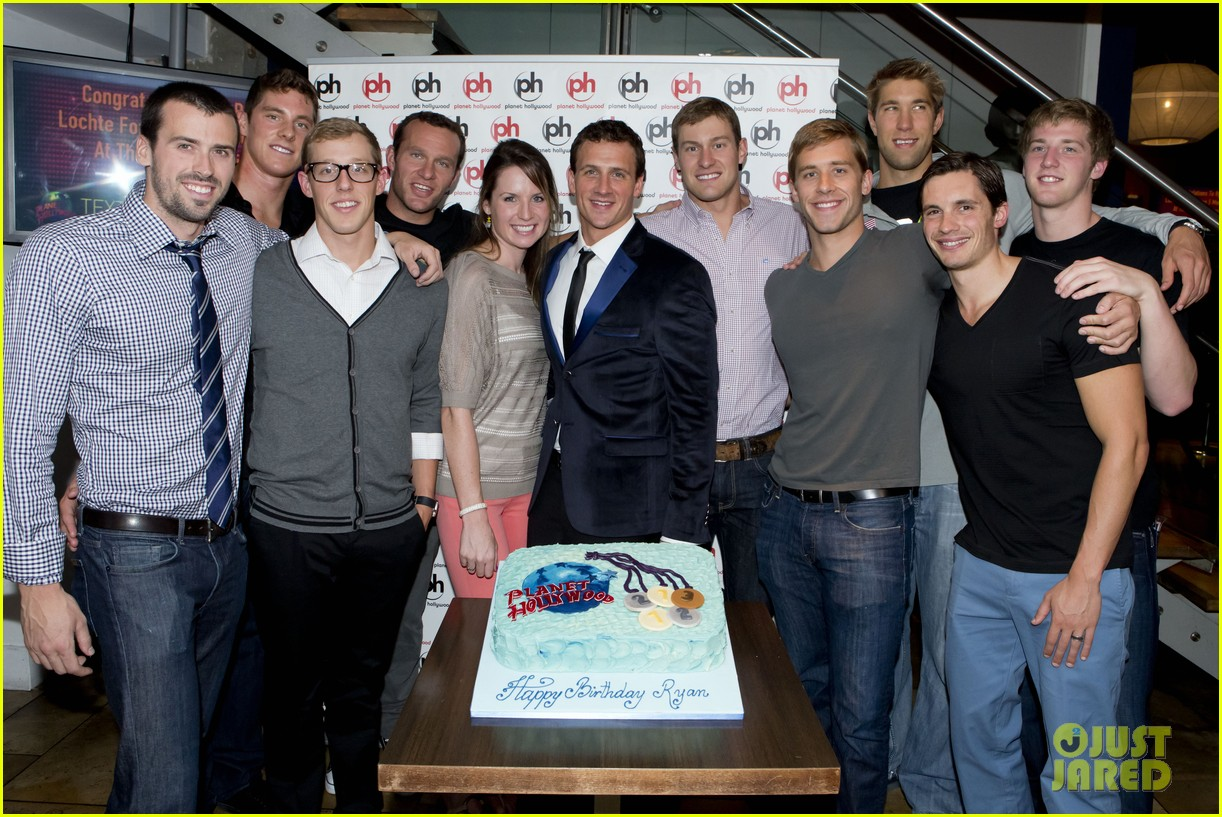 ryan lochte planet hollywood birthday party photo