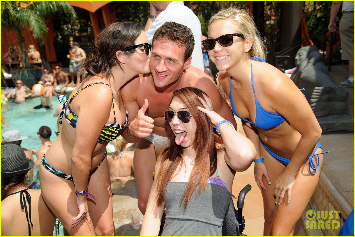 ryan lochte las vegas pool party weekend 212704466