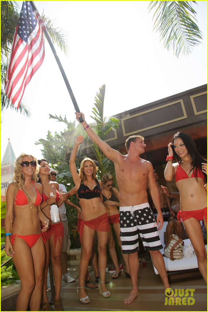 ryan lochte las vegas pool party weekend 452704490