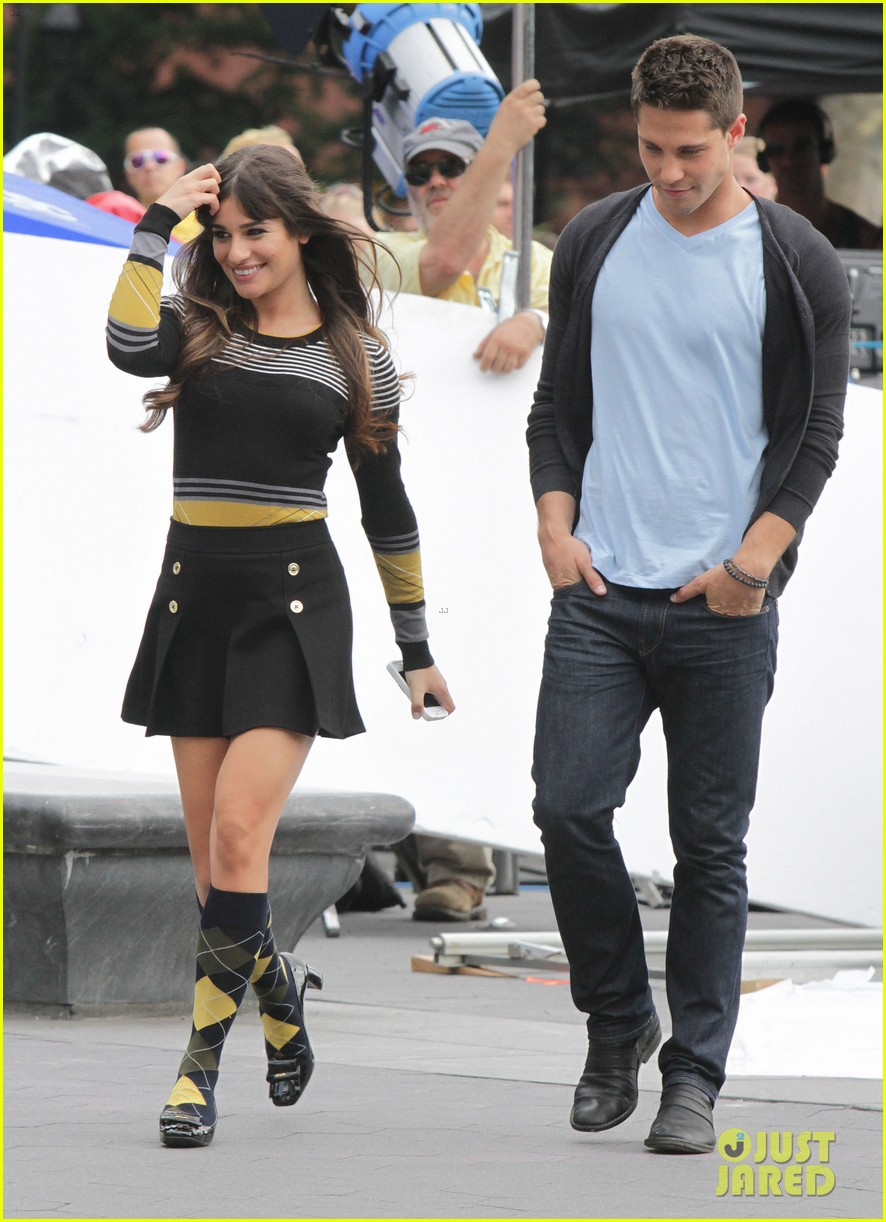 Full Sized Photo of lea michele glee day with dean geyer ...