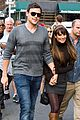 lea michele cory monteith holding hands on glee set 06