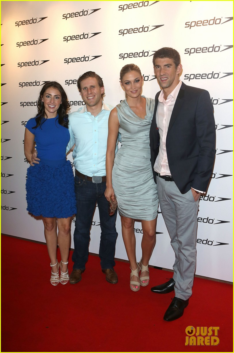 michael phelps megan rossee red carpet debut 012697996