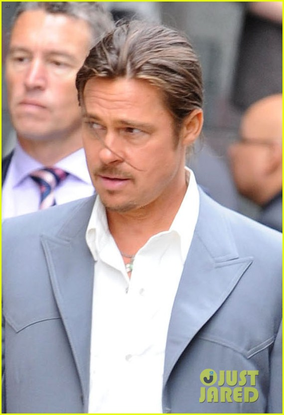 Brad Pitt Ponytail For The Counselor