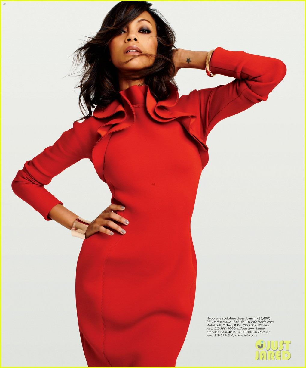 zoe saldana covers gotham magazine september 2012 022709293