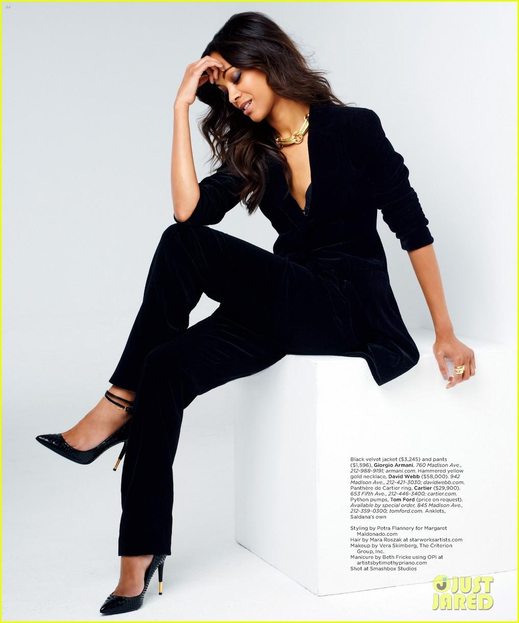 Zoe Saldana Covers Gotham Magazine September 2012 Photo