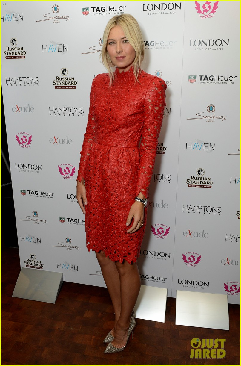 maria sharapova hamptons magazine cover party 012705893