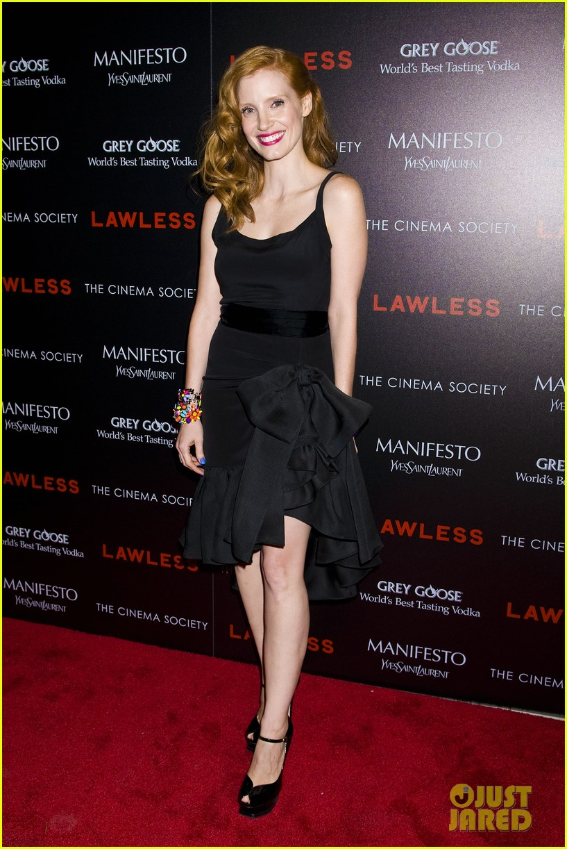 jessica chastain shia labeouf lawless nyc 01