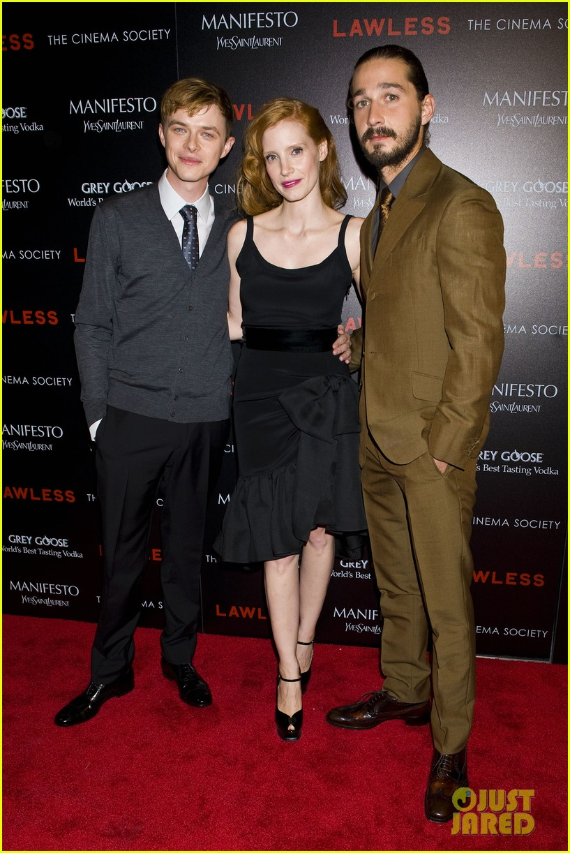 jessica chastain shia labeouf lawless nyc 032701770