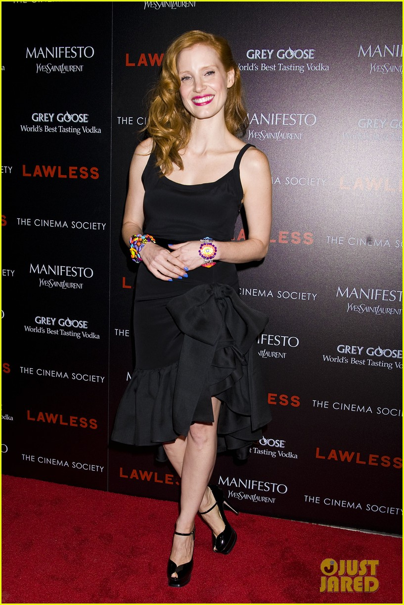 jessica chastain shia labeouf lawless nyc 062701773