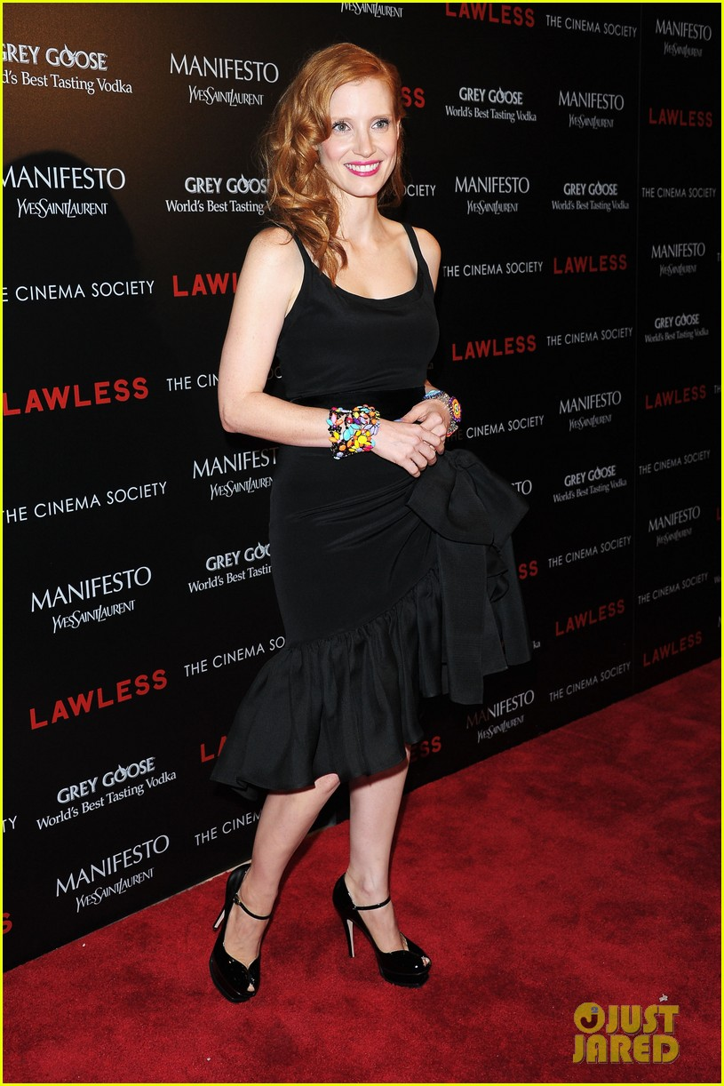 jessica chastain shia labeouf lawless nyc 112701778
