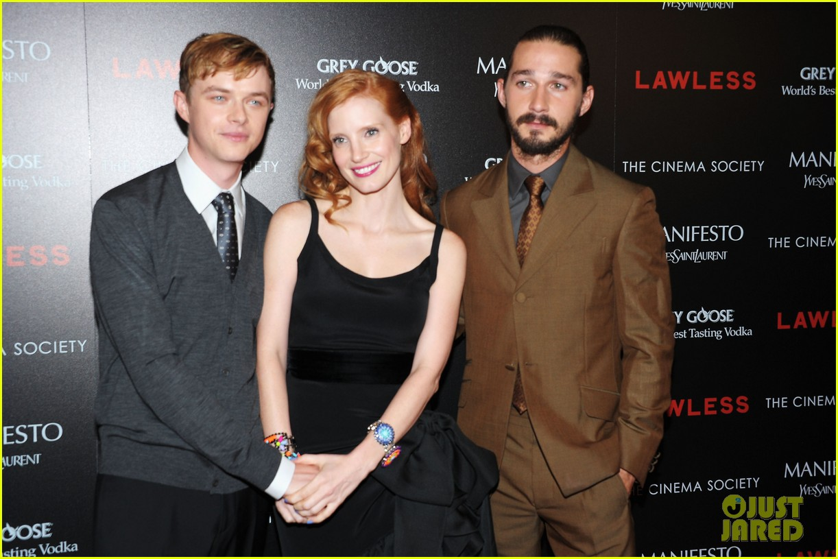 jessica chastain shia labeouf lawless nyc 182701785