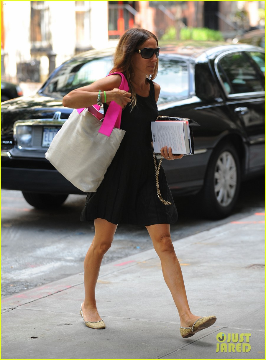 sarah jessica parker getting ready for glee 05