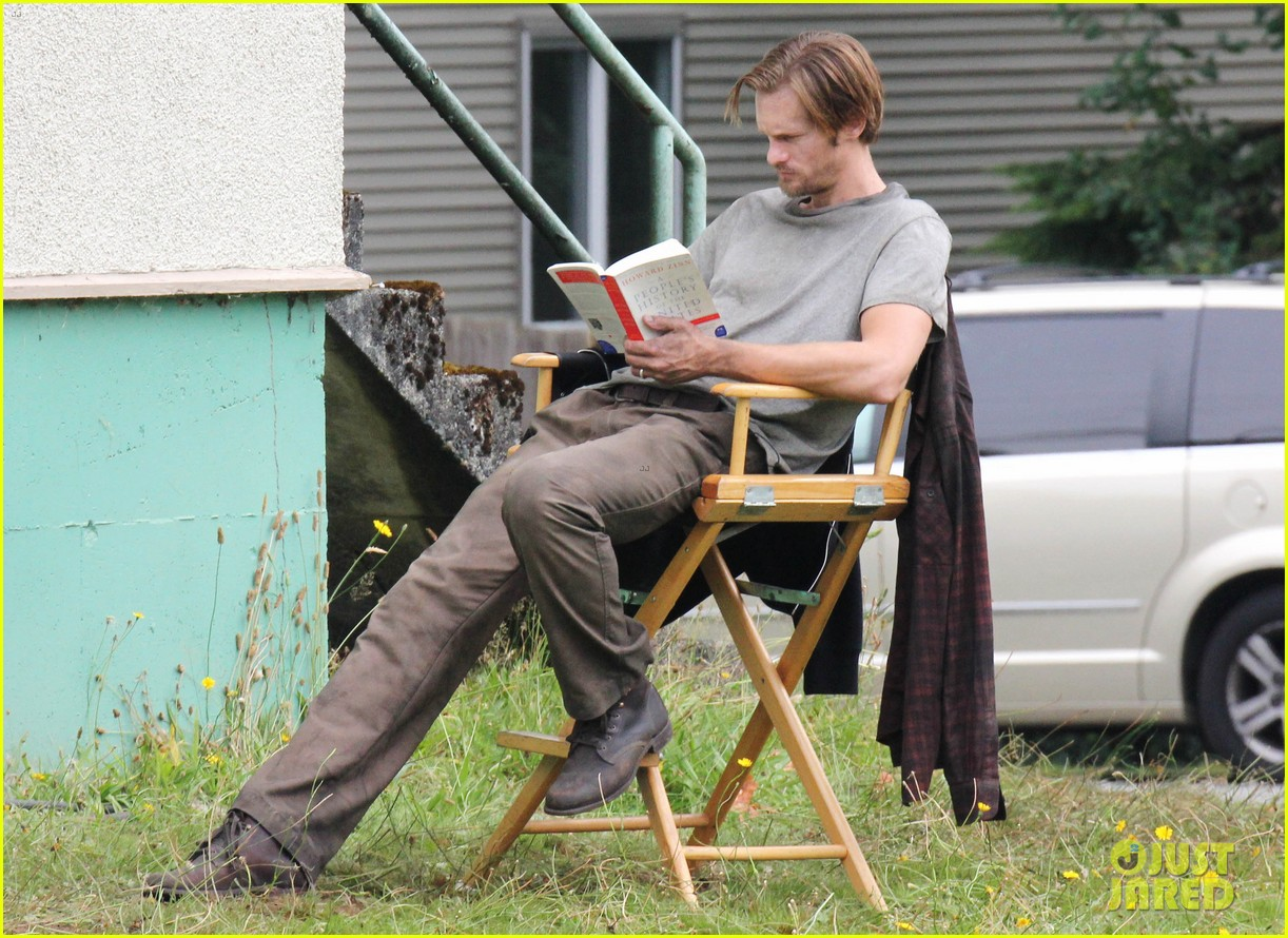 alexander skarsgard hidden set with andrea riseborough 352710491