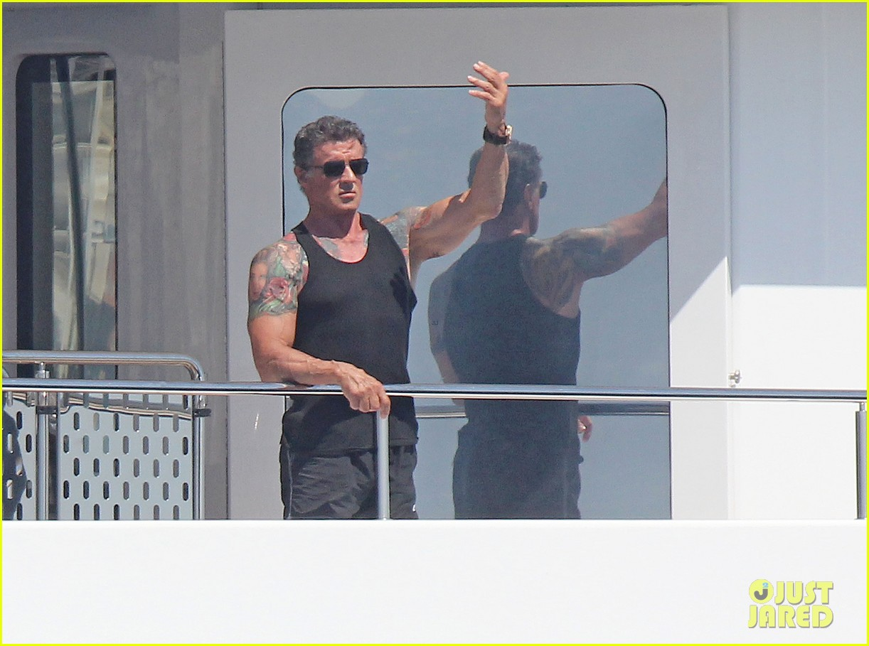 sylvester stallone family yacht vacation in cannes 022698901