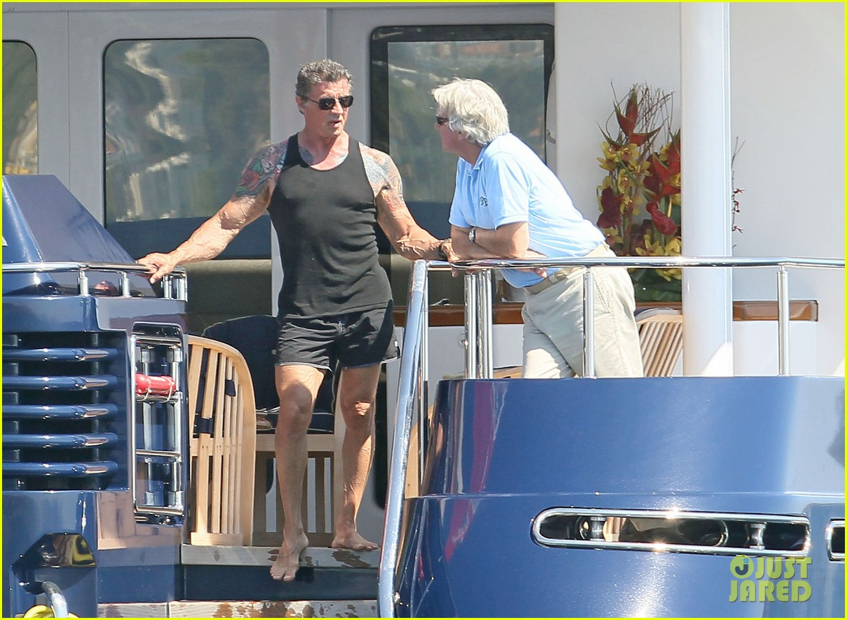 sylvester stallone family yacht vacation in cannes 072698906
