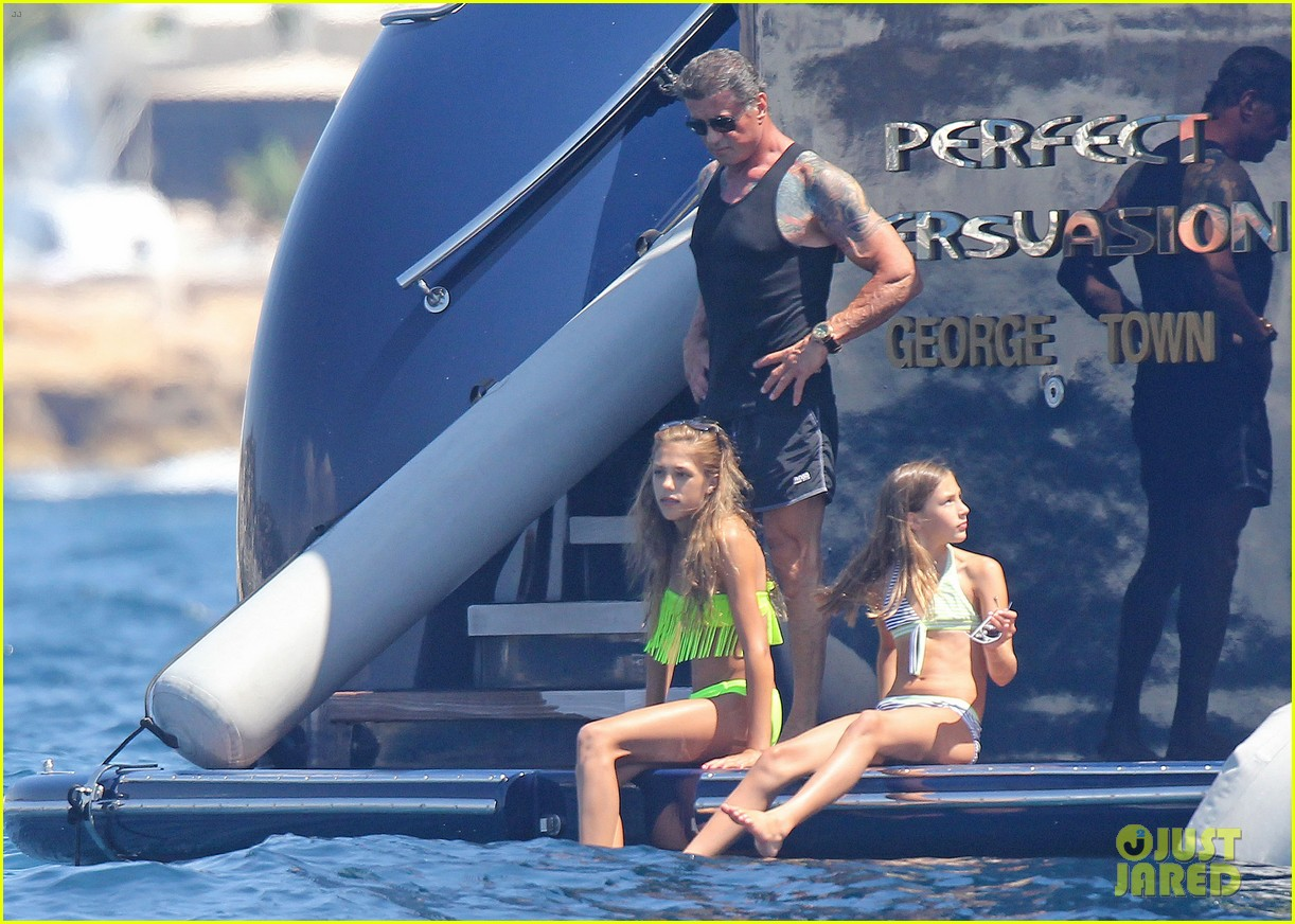 sylvester stallone family yacht vacation in cannes 082698907