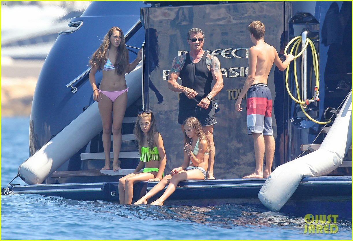 sylvester stallone family yacht vacation in cannes 092698908