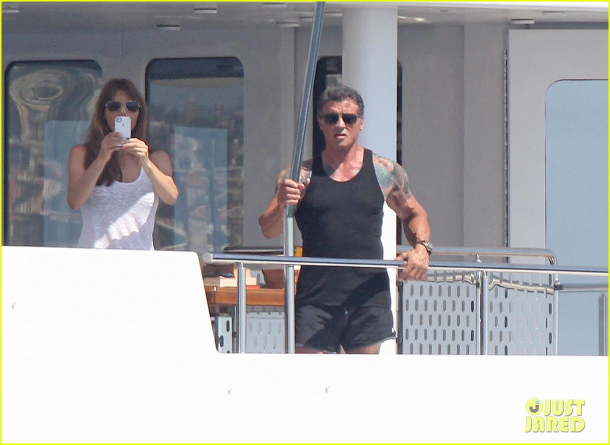 sylvester stallone family yacht vacation in cannes 10