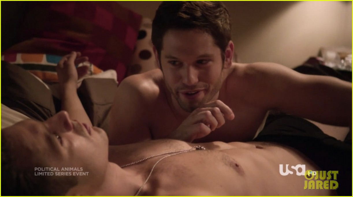 sebastian stan shirtless for political animals 13