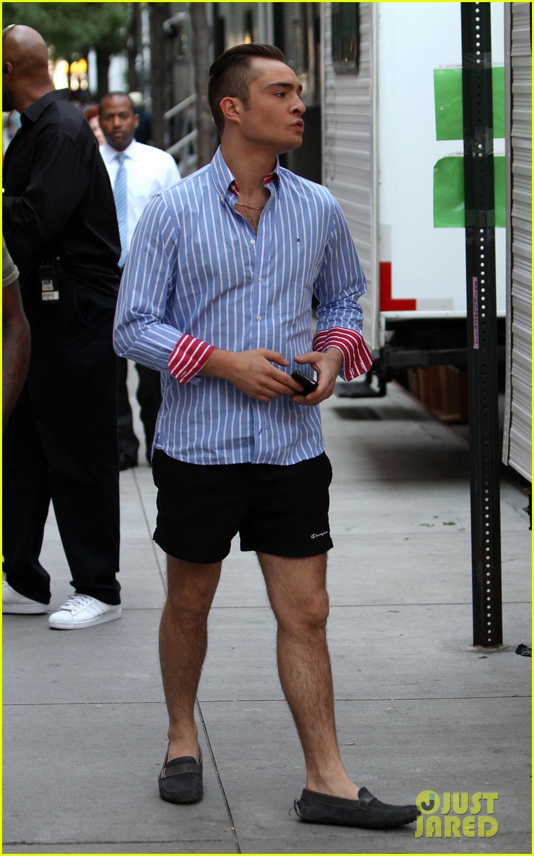 ed westwick kelly rutherford gossip girl set 19