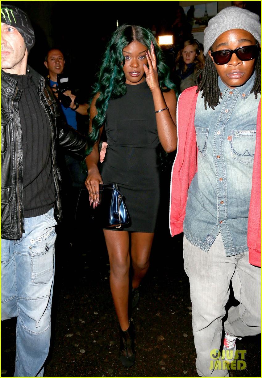 azealia banks green hair at thierry mugler show 032729016