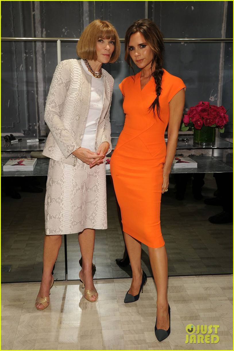 victoria beckham fashions night out with anna wintour 07