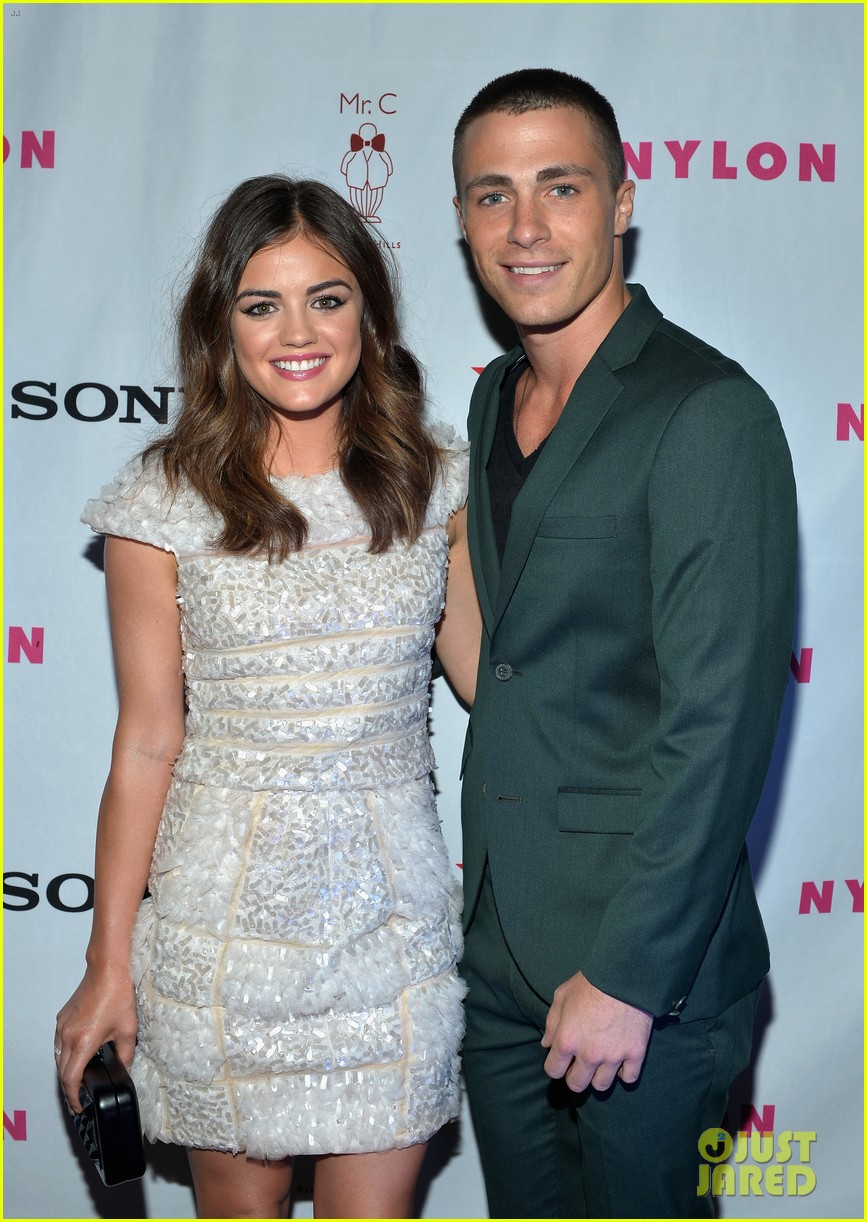 alexis bledel lucy hale nylon tv issue launch party 112722776