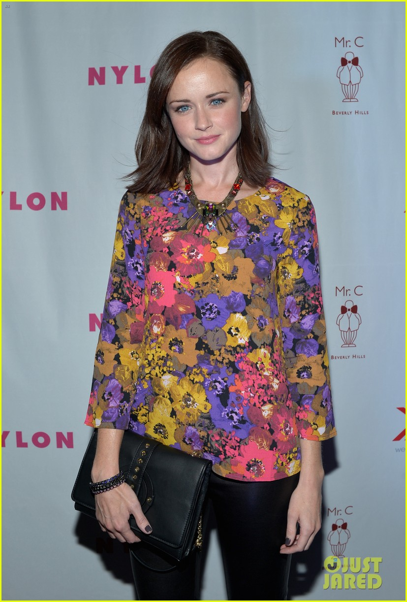 alexis bledel lucy hale nylon tv issue launch party 172722782