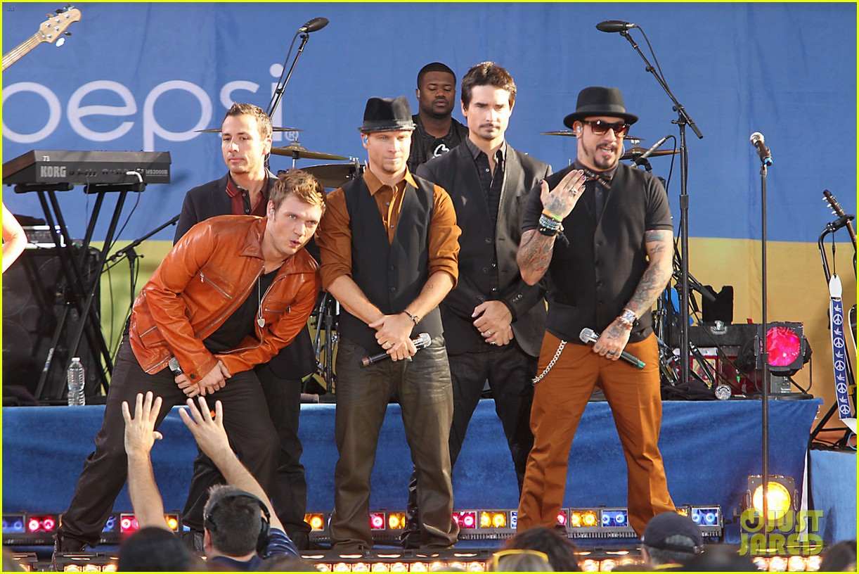 backstreet boys reunite for good morning america performance 012712317