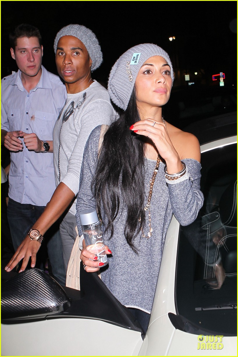 chris brown nicole scherzinger they were not kissing 042728967