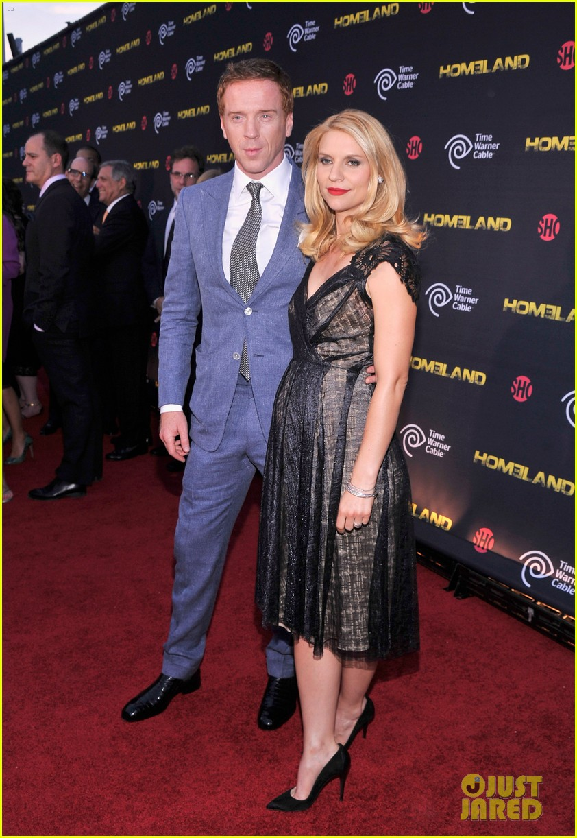 claire danes homeland premiere with damian lewis 132716824