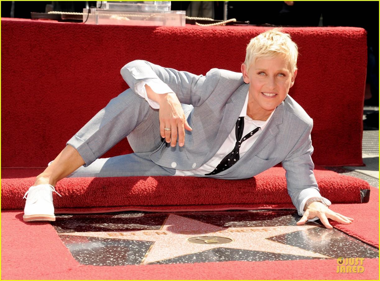 ellen degeneres star hollywood walk of fame 022714171