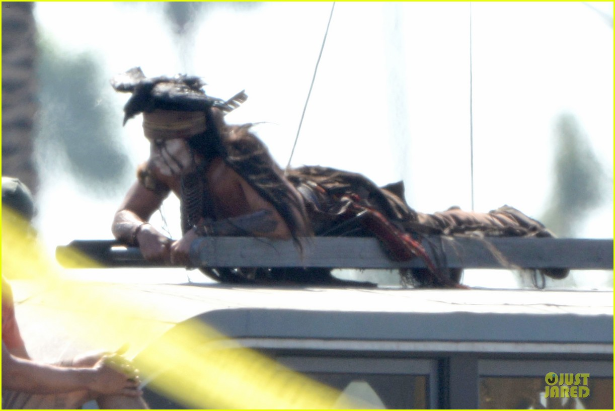 johnny depp lone ranger set 202724790