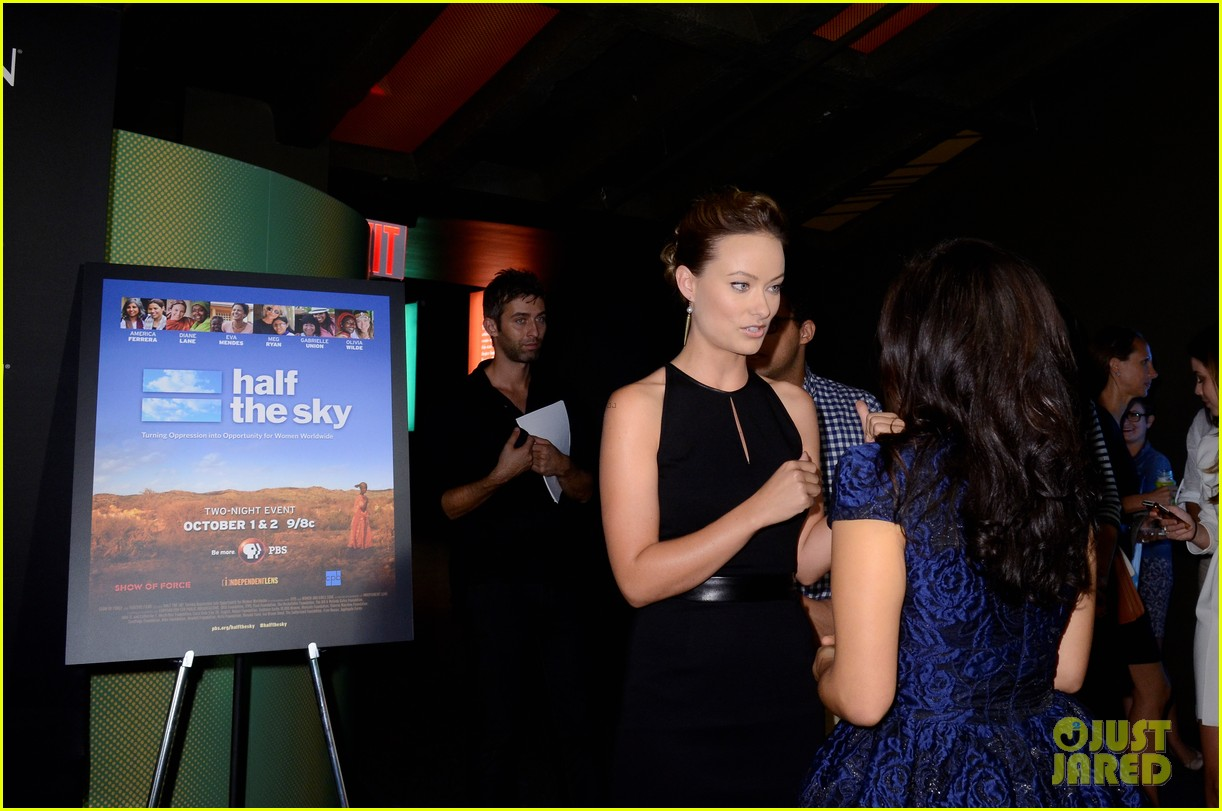 america ferrera olivia wilde half the sky screening 12