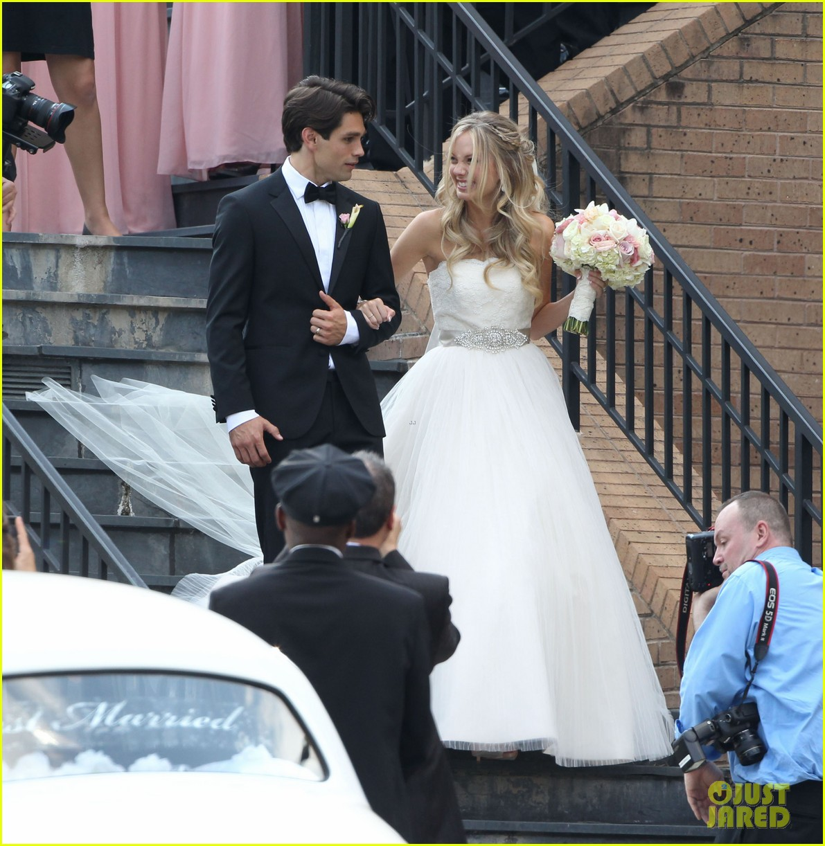 justin gaston weds melissa ordway first wedding pictures 05