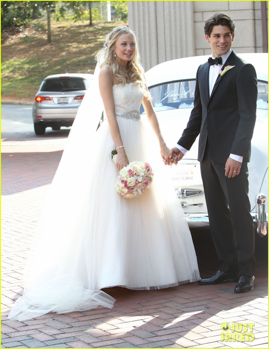 justin gaston weds melissa ordway first wedding pictures 152726574