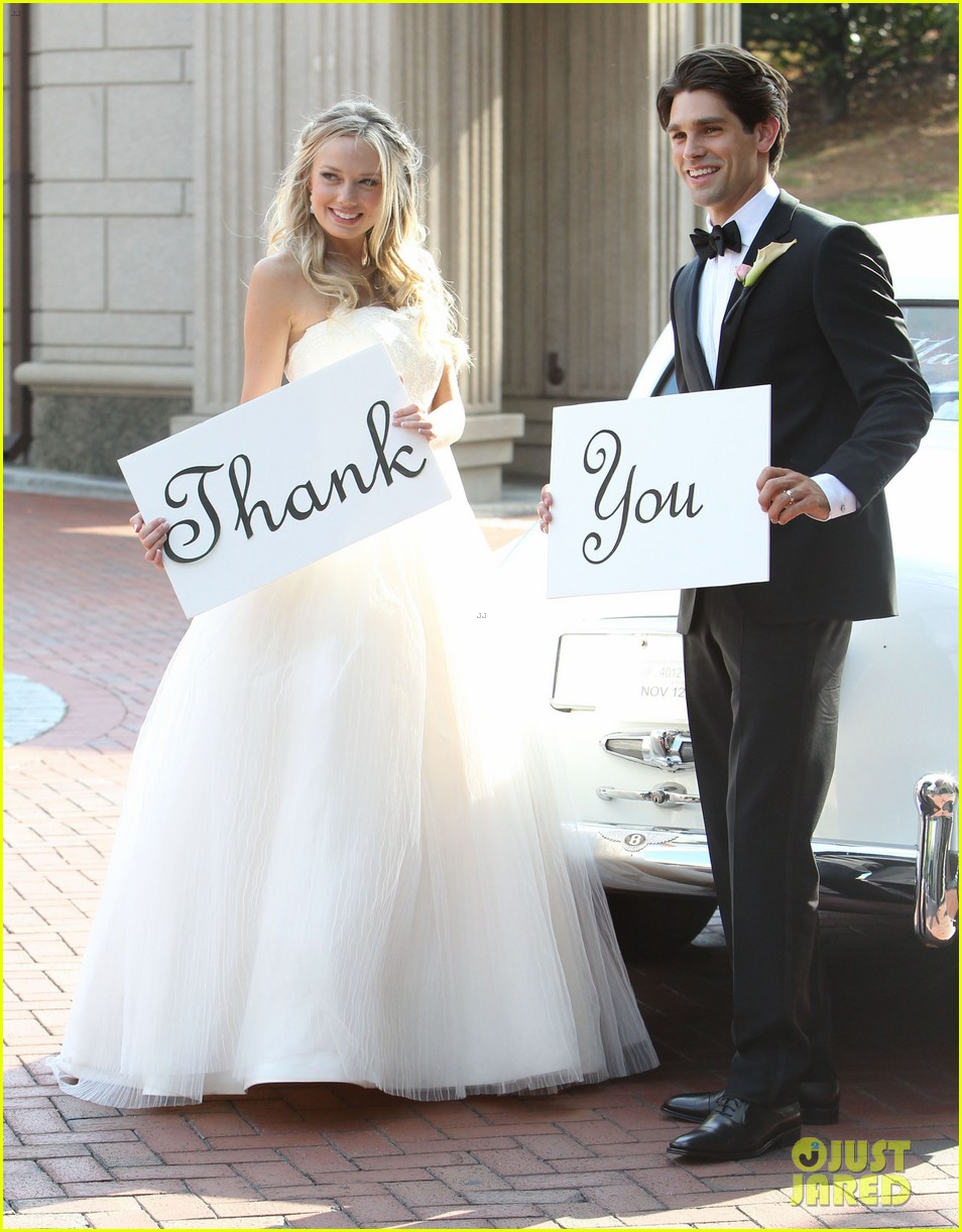 justin gaston weds melissa ordway first wedding pictures 172726576