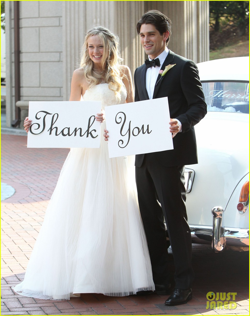 justin gaston weds melissa ordway first wedding pictures 22