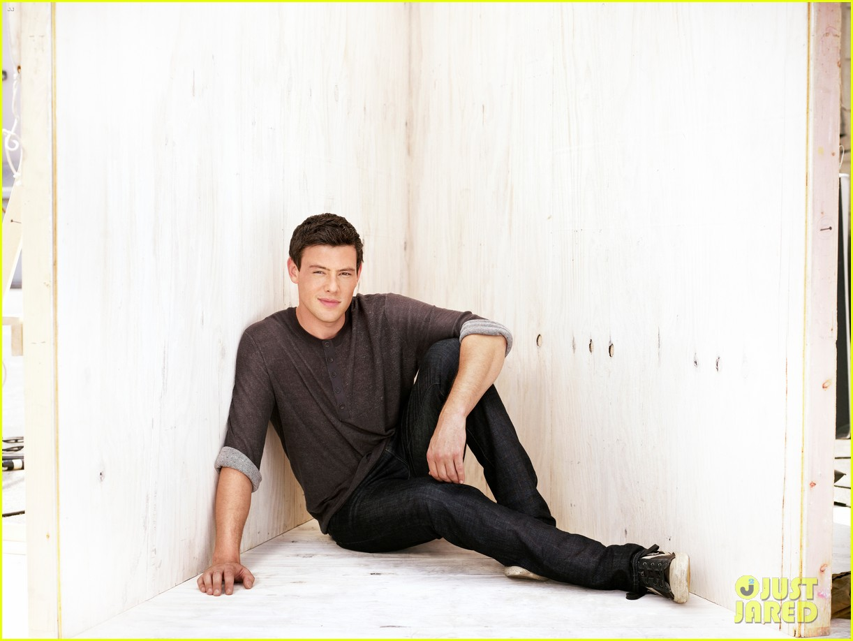 lea michele cory monteith glee faces of fox campaign 102713995