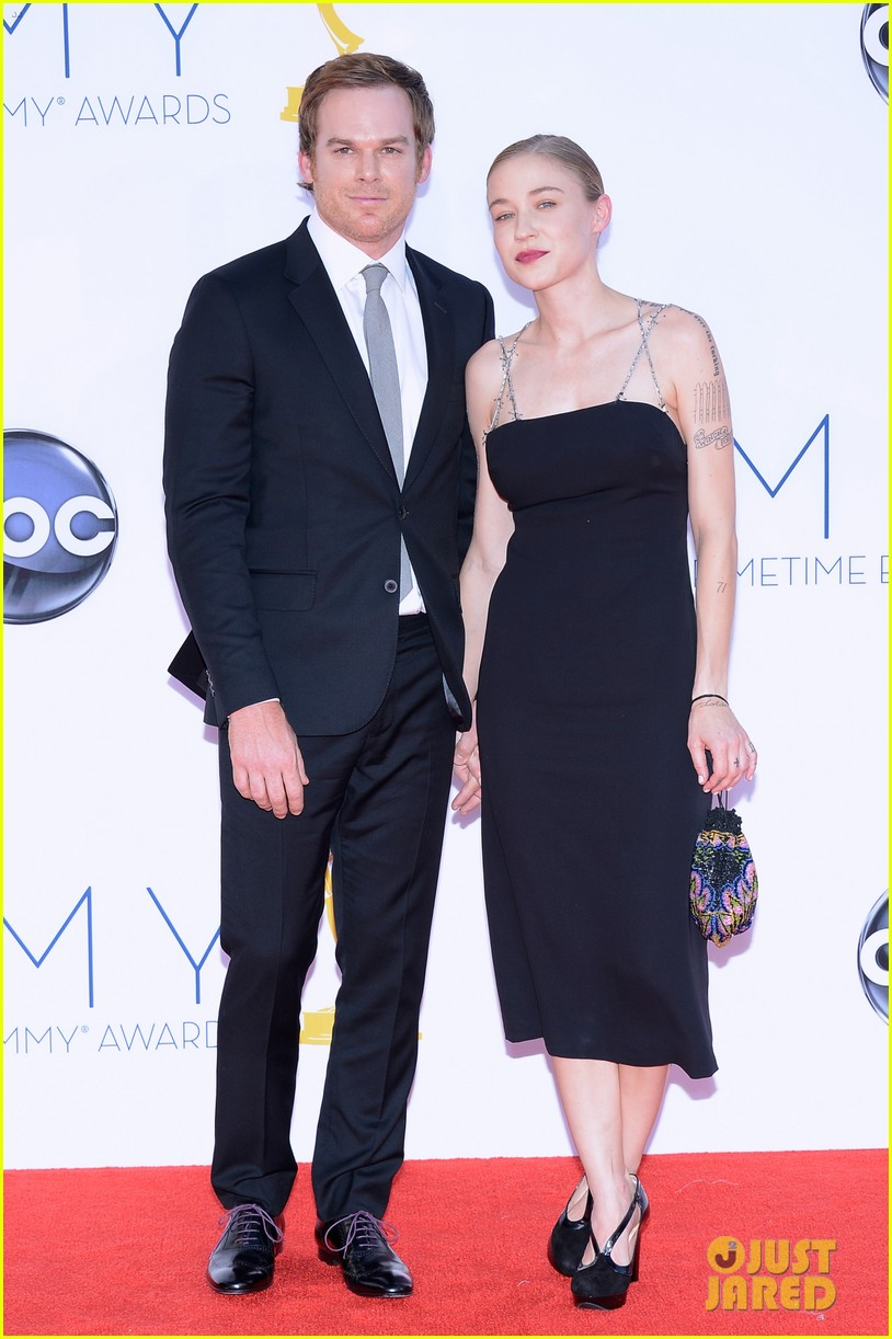 michael c hall emmys with new girlfriend morgan macgregor 022727330