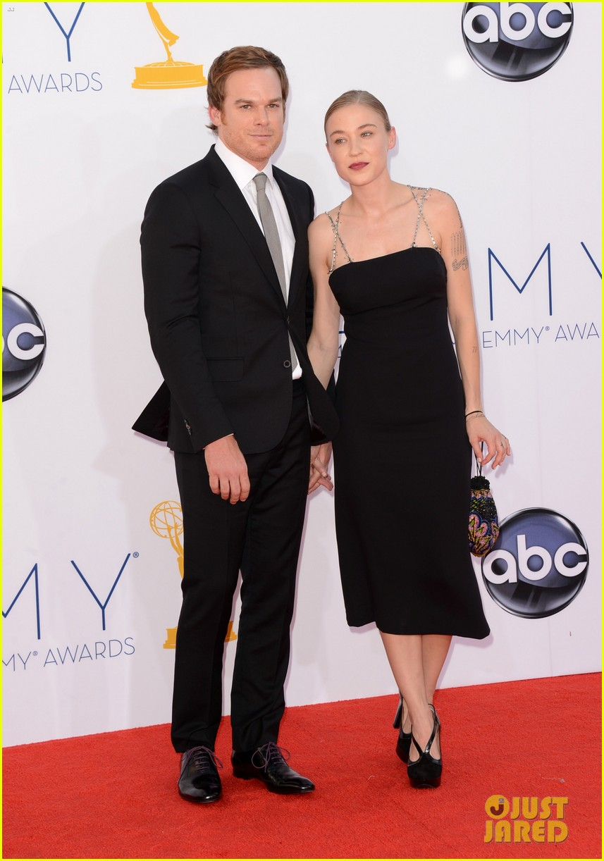 michael c hall emmys with new girlfriend morgan macgregor 042727332