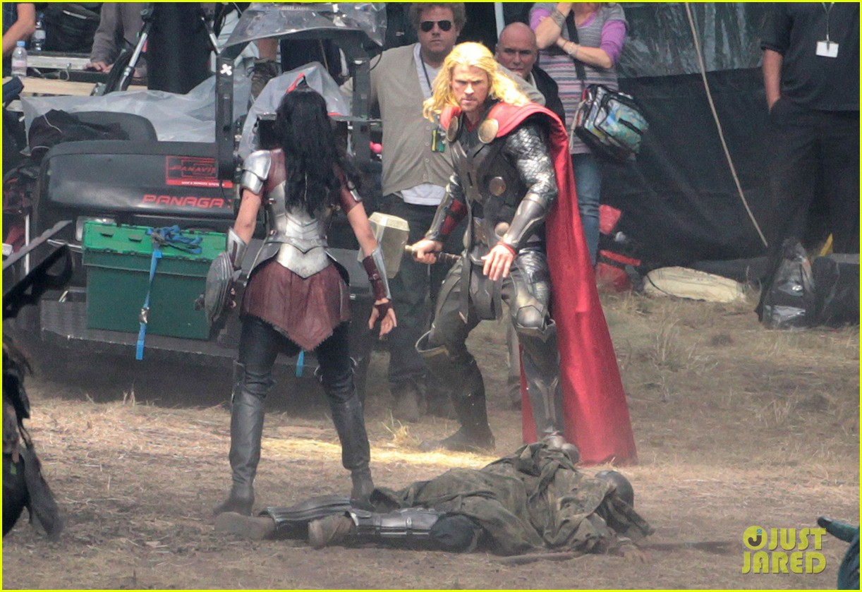 chris hemsworth thor 2 begins filming first set pics 102719379