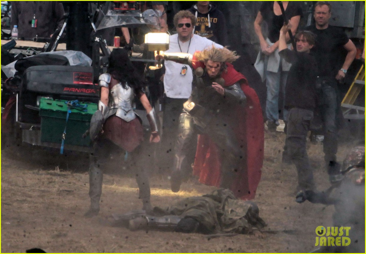 chris hemsworth thor 2 begins filming first set pics 132719382