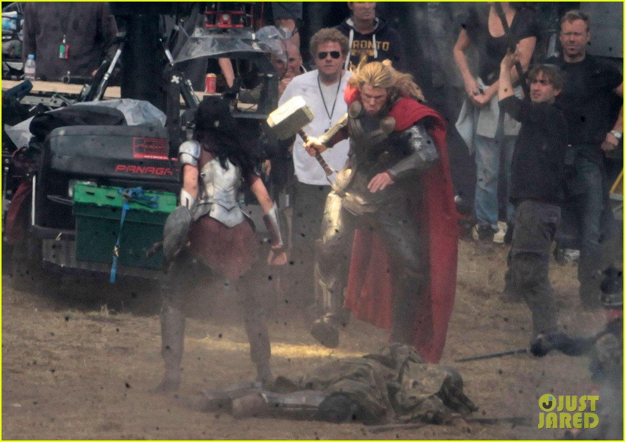 chris hemsworth thor 2 begins filming first set pics 142719383