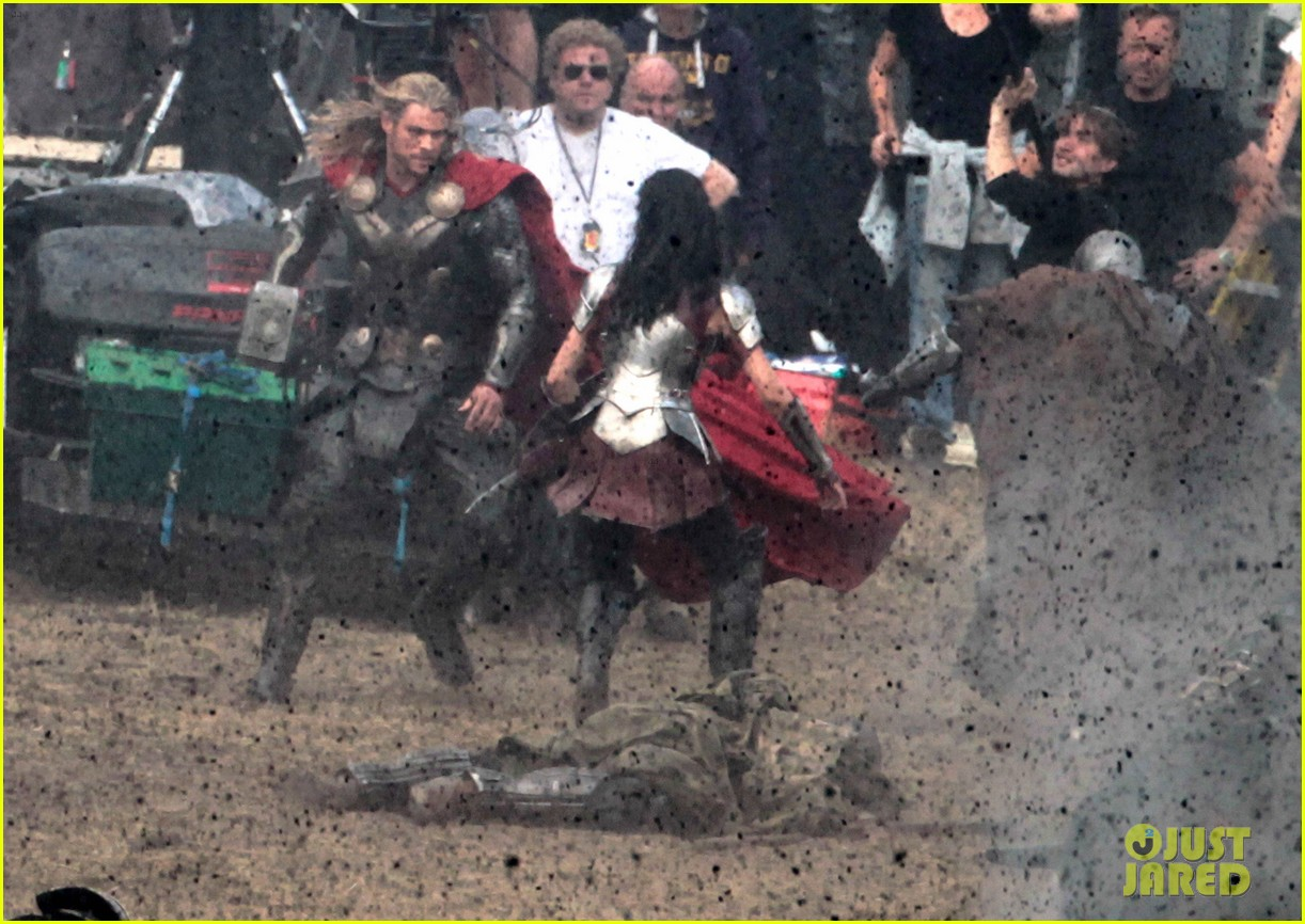 chris hemsworth thor 2 begins filming first set pics 162719385