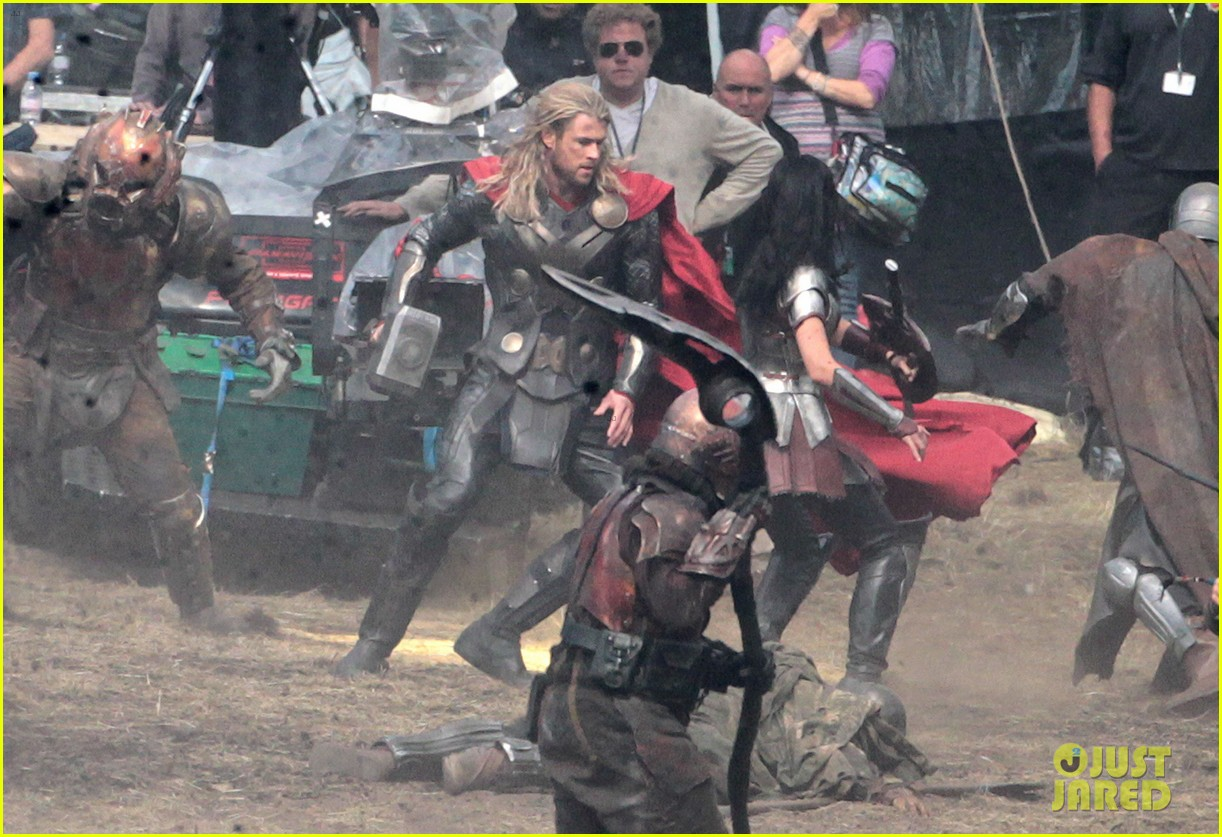 chris hemsworth thor 2 begins filming first set pics 282719397