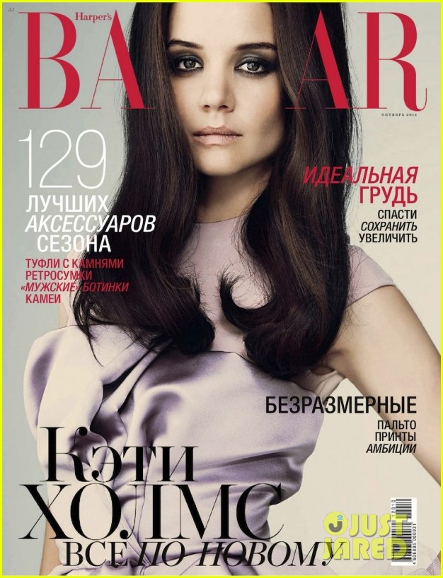 katie holmes covers harpers bazaar russia october 2012 052724318