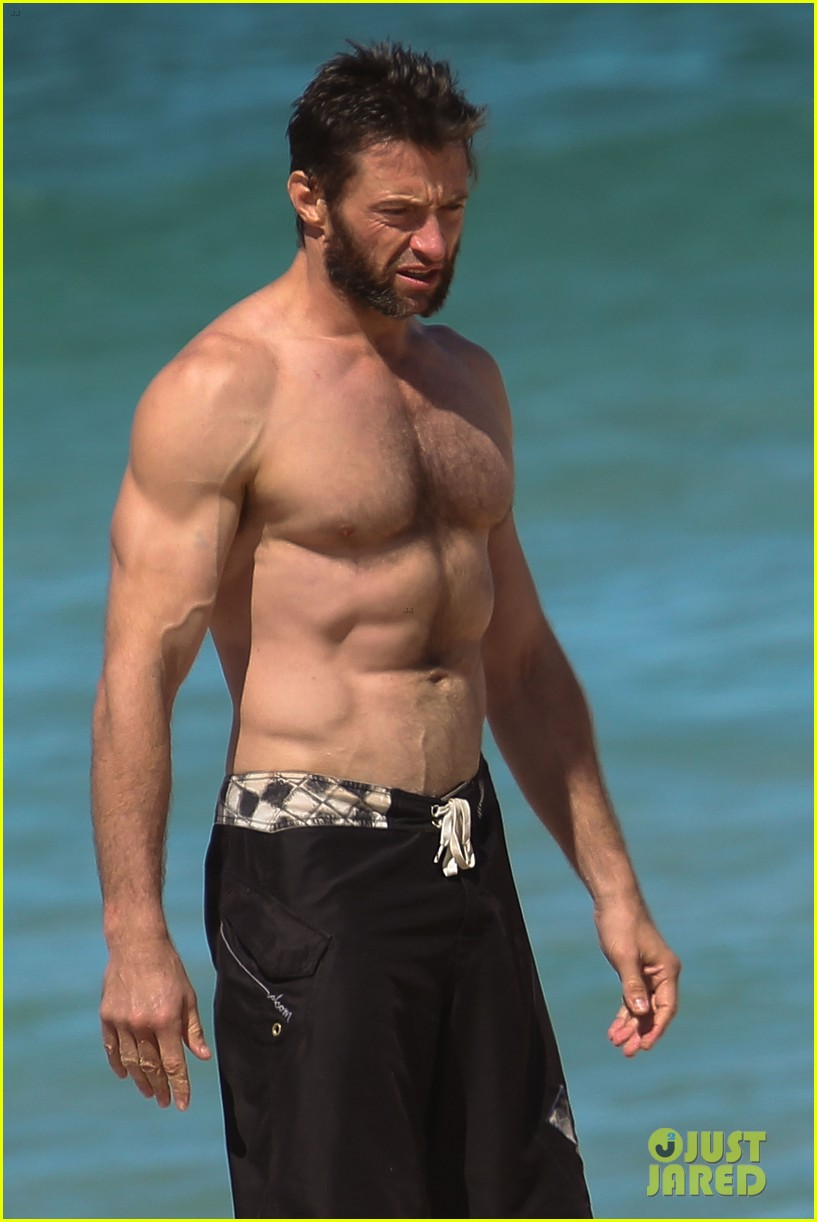 hugh jackman shirtless at bondi beach 022726456