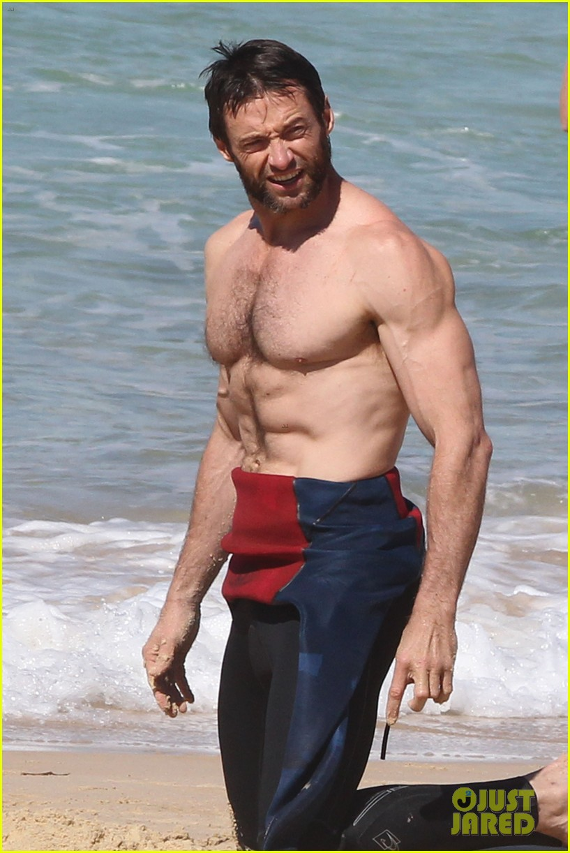 hugh jackman shirtless at bondi beach 042726458